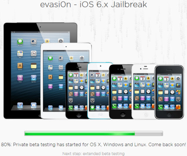 evasi0n - iOS 6.x jailbreak for iPhone, iPad and iPod Touch