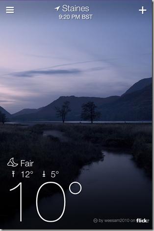 Yahoo Weather App for iPhone - iOS Screenshot 1