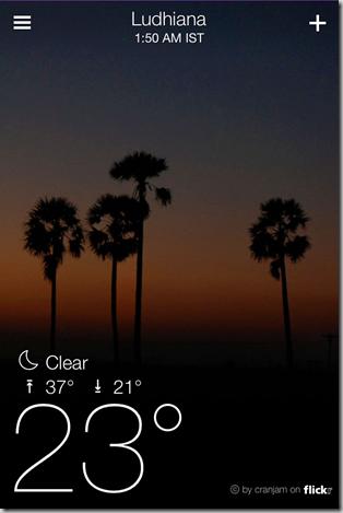 Yahoo Weather App for iPhone - iOS Screenshot 3
