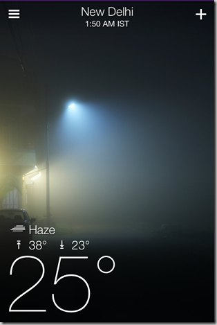 Yahoo Weather App for iPhone - iOS Screenshot 4