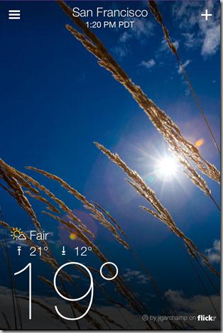 Yahoo Weather App for iPhone - iOS Screenshot 5