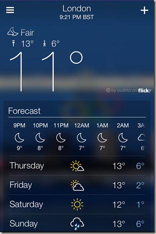 Yahoo Weather App for iPhone - iOS Screenshot 8
