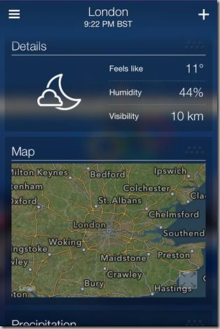 Yahoo Weather App for iPhone - iOS Screenshot 9